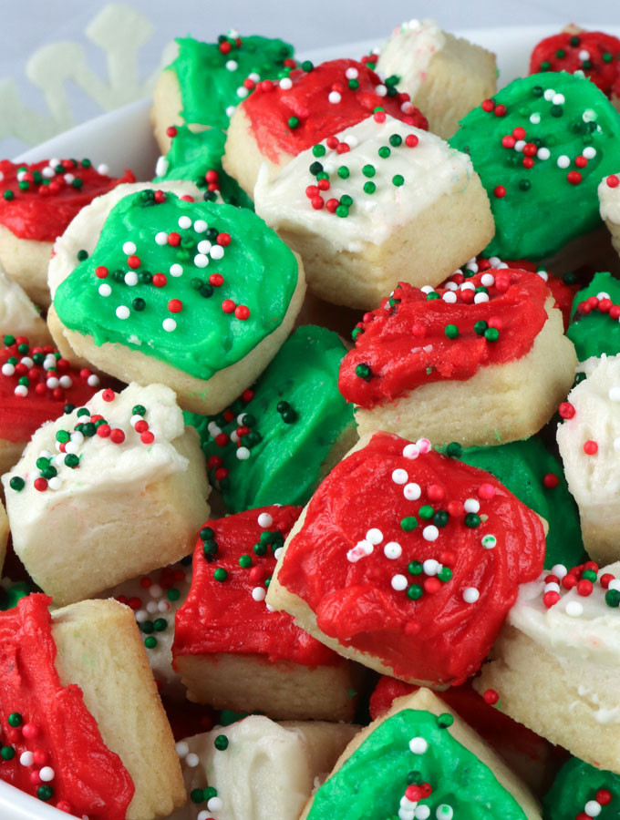 Fun Easy Christmas Cookies  Christmas Sugar Cookie Bites Two Sisters