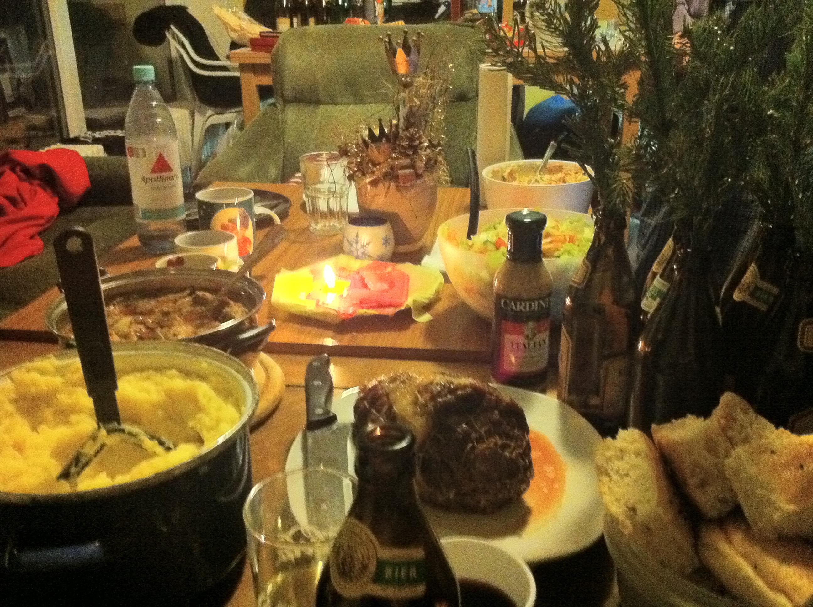 German Christmas Dinner  2010 Exchange Germany