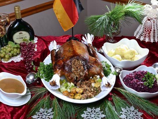 German Christmas Dinner  A traditional German Christmas at Gasthaus