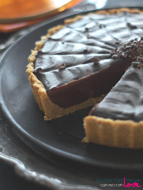 Gluten Free Halloween Recipes  Gluten Free Vegan and Paleo Chocolate Pumpkin Tart