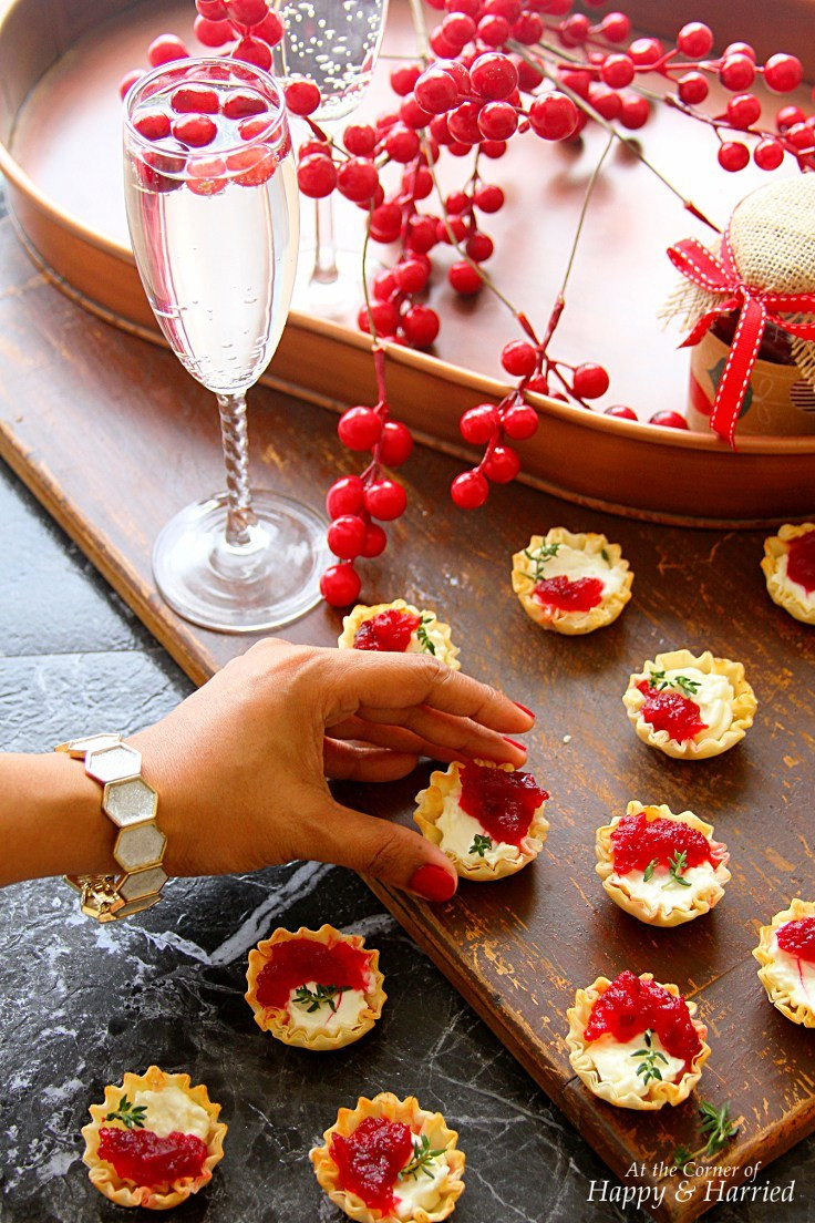 Good Appetizers For Christmas Party  Cranberry & Cream Cheese Mini Phyllo Bites Christmas