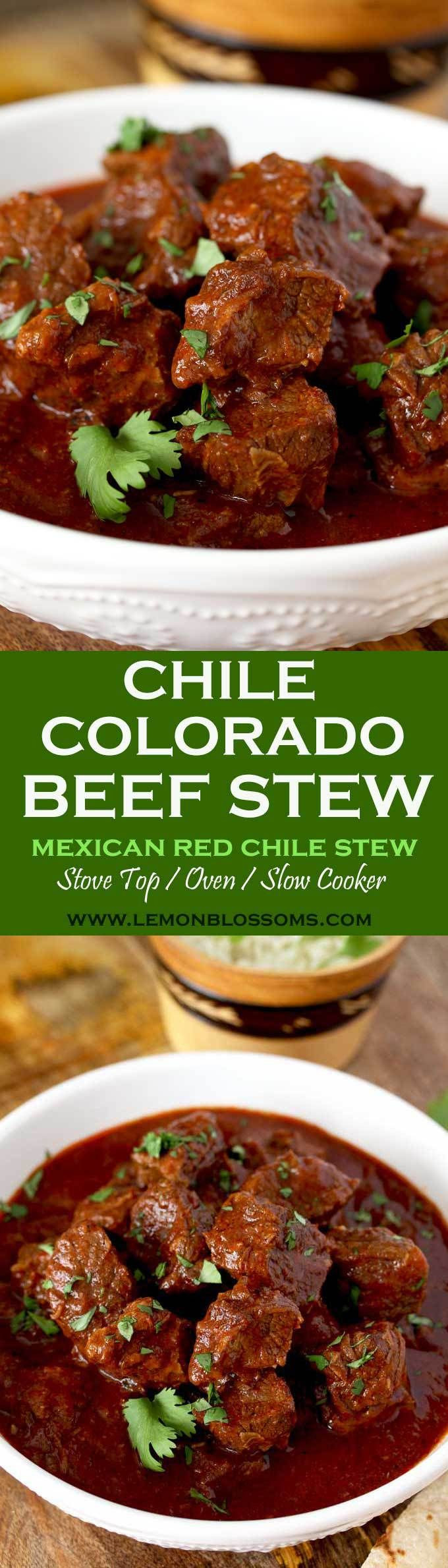 Good Burritos Don'T Fall Apart  This rich and hearty Chile Colorado Beef Stew is lip