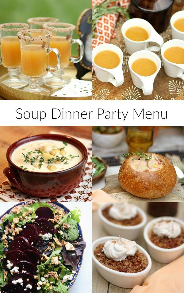 Good Fall Dinners  Best 20 Dinner Party Menu ideas on Pinterest