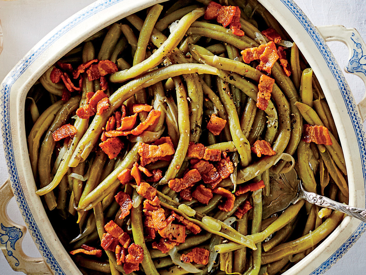 Green Thanksgiving Side Dishes  Slow Cooker Green Beans Recipe Southern Living