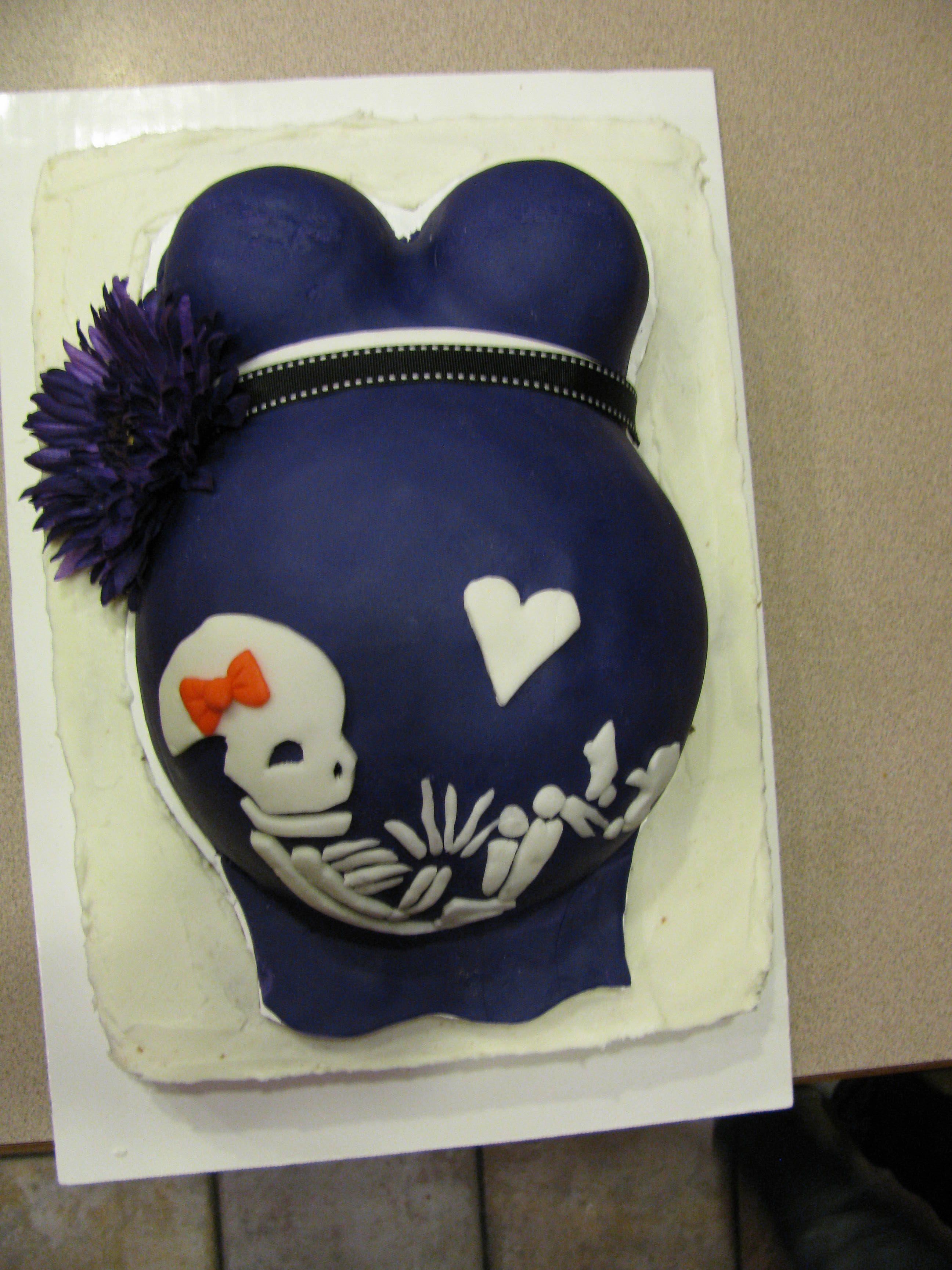 Halloween Baby Shower Cakes  Belly Cake Halloween Baby shower cakes