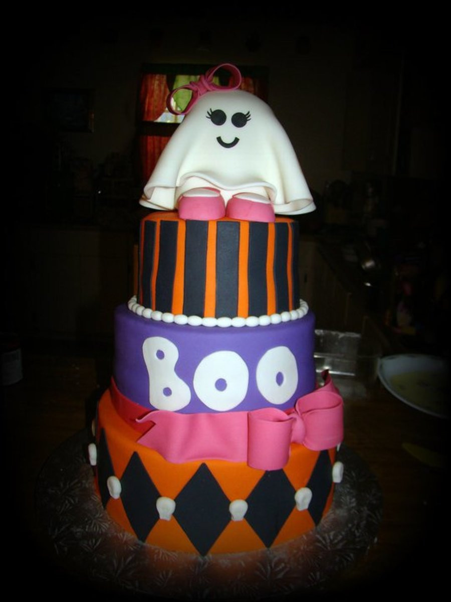 Halloween Baby Shower Cakes  Halloween Baby Shower Cake CakeCentral