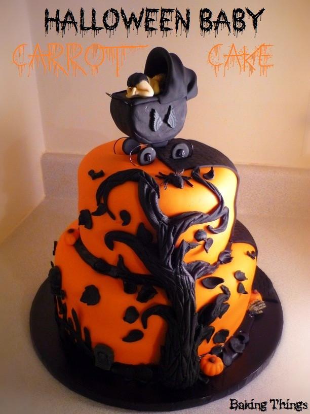 Halloween Baby Shower Cakes  Halloween Baby Carrot Cake