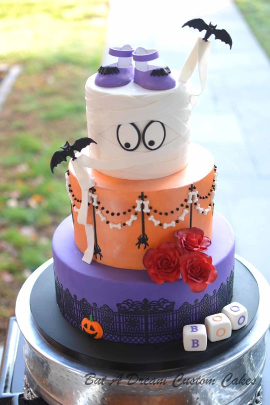 Halloween Baby Shower Cakes  Halloween Baby Shower cake by Elisabeth Palatiello