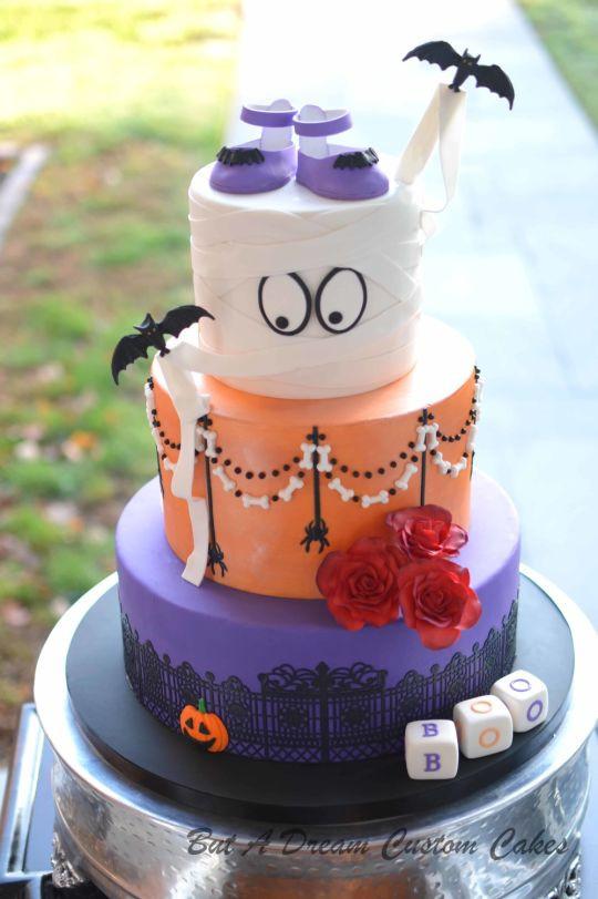 Halloween Baby Shower Cakes  Halloween Baby Shower cake by Elisabeth Palatiello