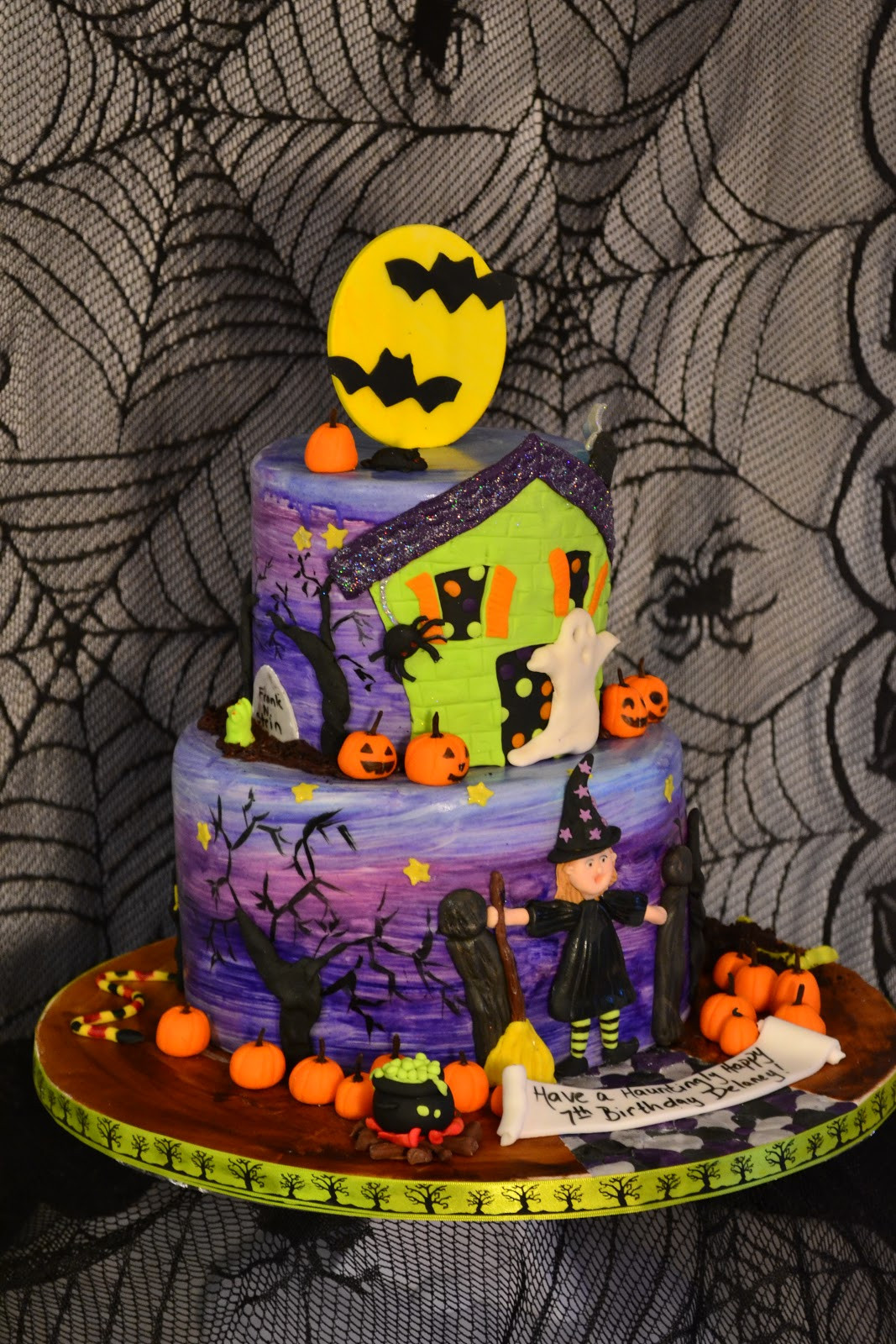 Halloween Birthday Cake Pictures  Oh just put a cupcake in it Halloween birthday cake