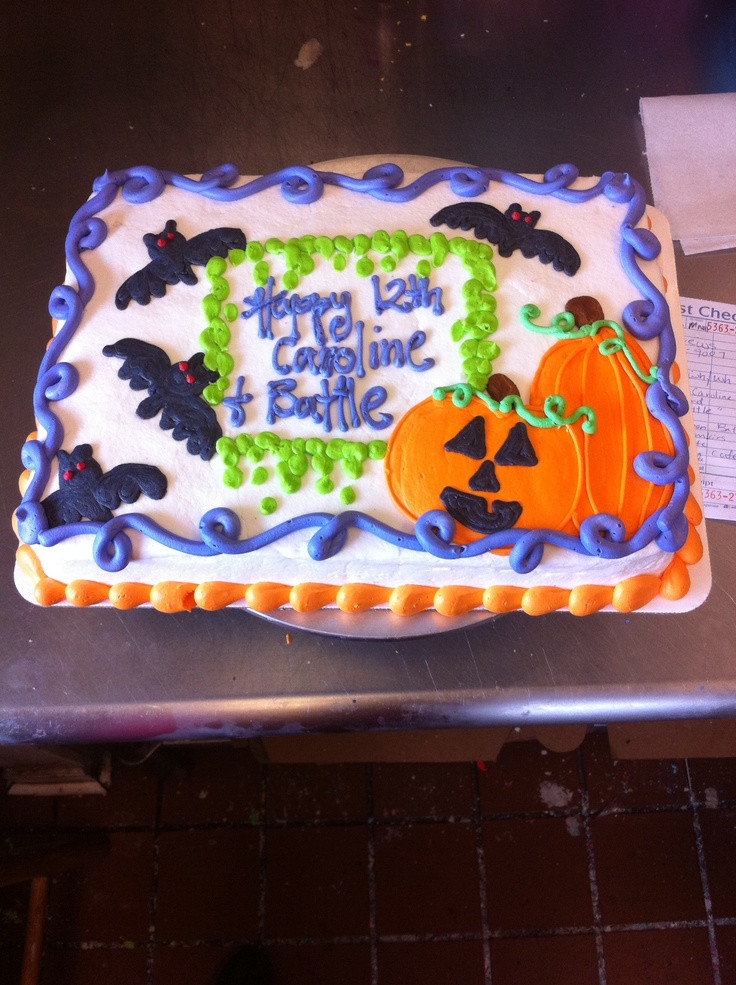 Halloween Birthday Sheet Cakes  1000 images about sheet cake ideas on Pinterest
