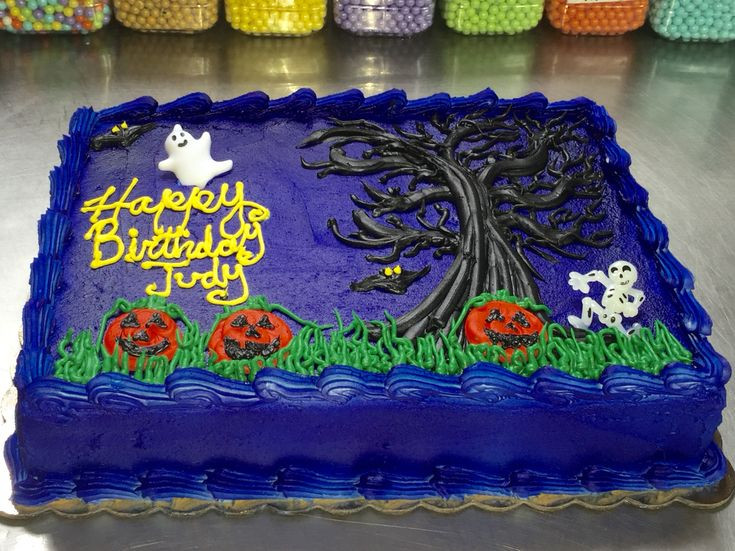Halloween Birthday Sheet Cakes  Halloween Sheet Cake Happy Halloween