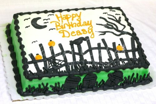 Halloween Birthday Sheet Cakes  Halloween Themed Birthday Cakes