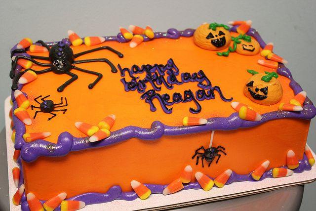 Halloween Birthday Sheet Cakes  t302