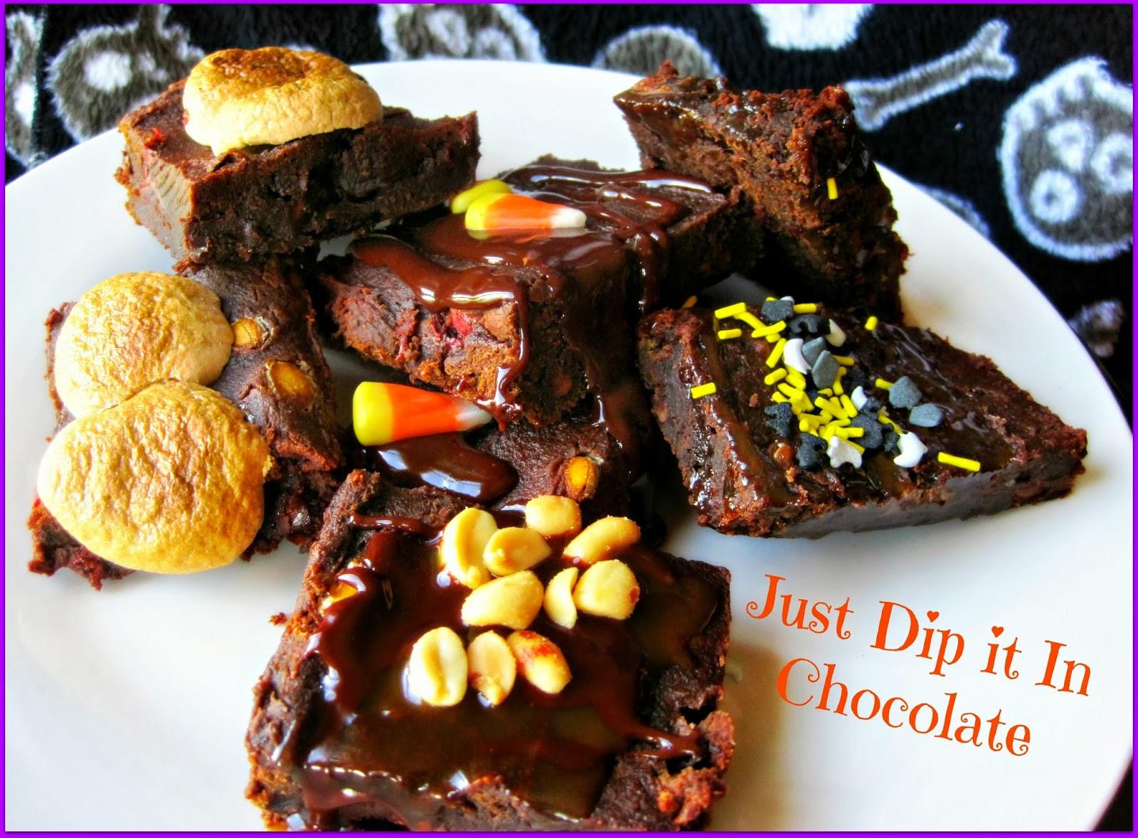 Halloween Brownies Recipes  Just Dip It In Chocolate Pumpkin Brownies Halloween Recipe