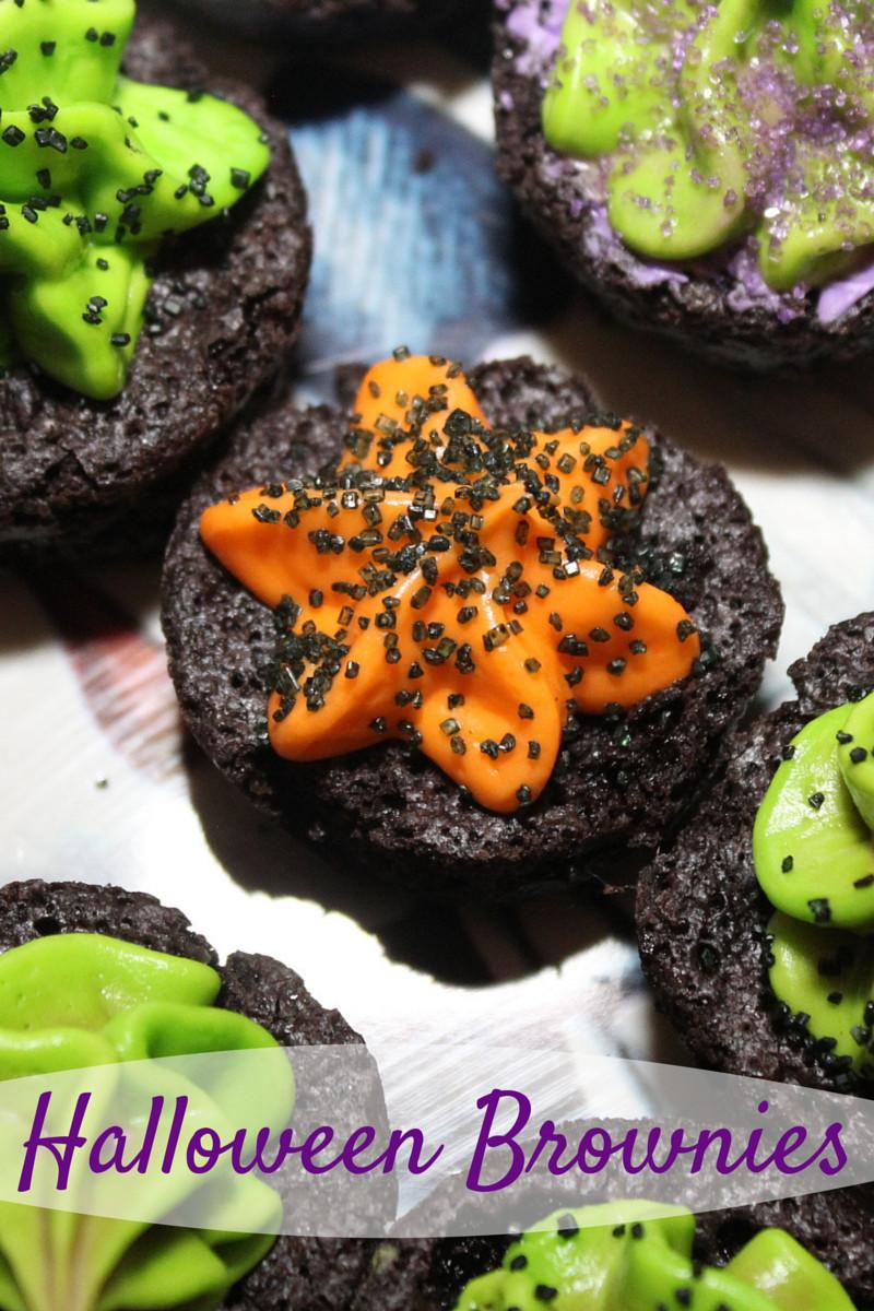 Halloween Brownies Recipes  Halloween Brownies Recipe & Halloween Vanilla Frosting