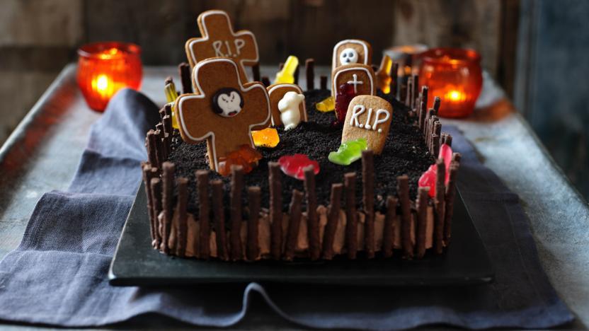 Halloween Cake Recipe  Halloween cake recipe BBC Food