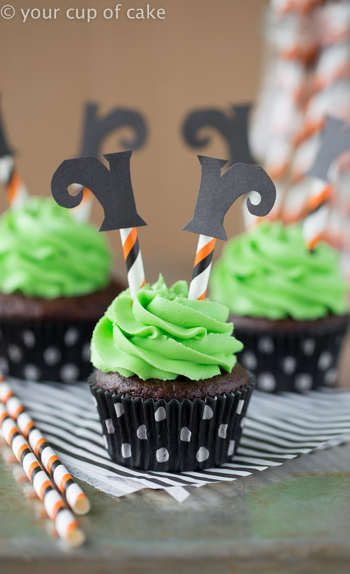 Halloween Cakes And Cupcakes  Wicked Witch Cupcakes Your Cup of Cake