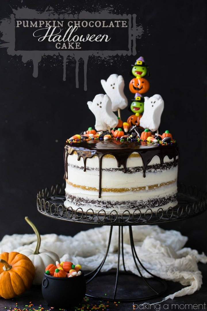 Halloween Cakes Games  Pumpkin Chocolate Halloween Cake Baking A Moment