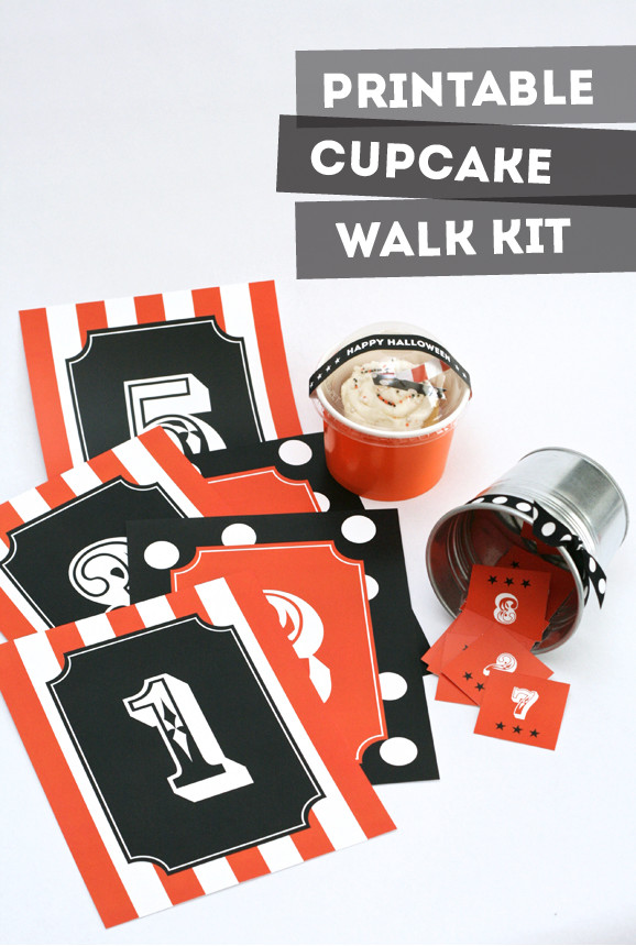 Halloween Cakes Games  Halloween Carnival Cupcake Walk Kit Paging Supermom