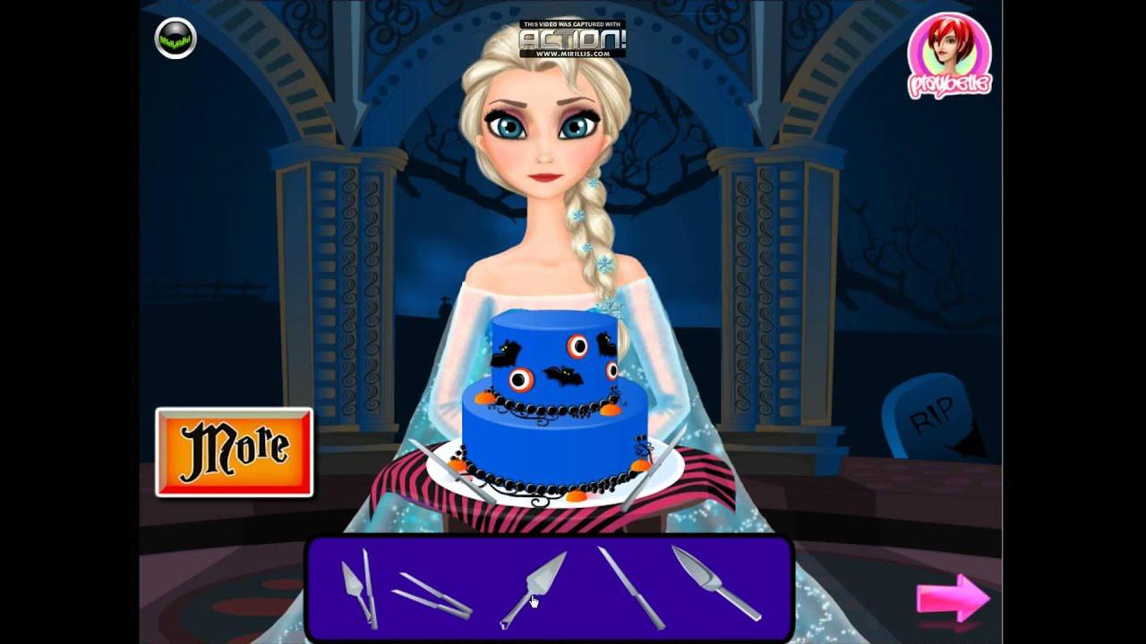 Halloween Cakes Games  Disney Frozen Games Elsa Halloween Cake – Best Disney