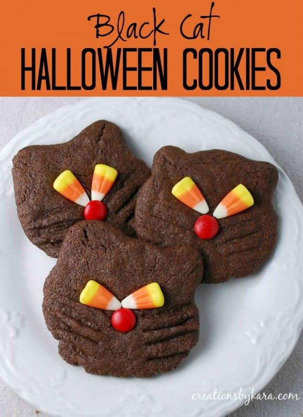 Halloween Cat Cookies  Halloween Recipe Black Cat Cookies