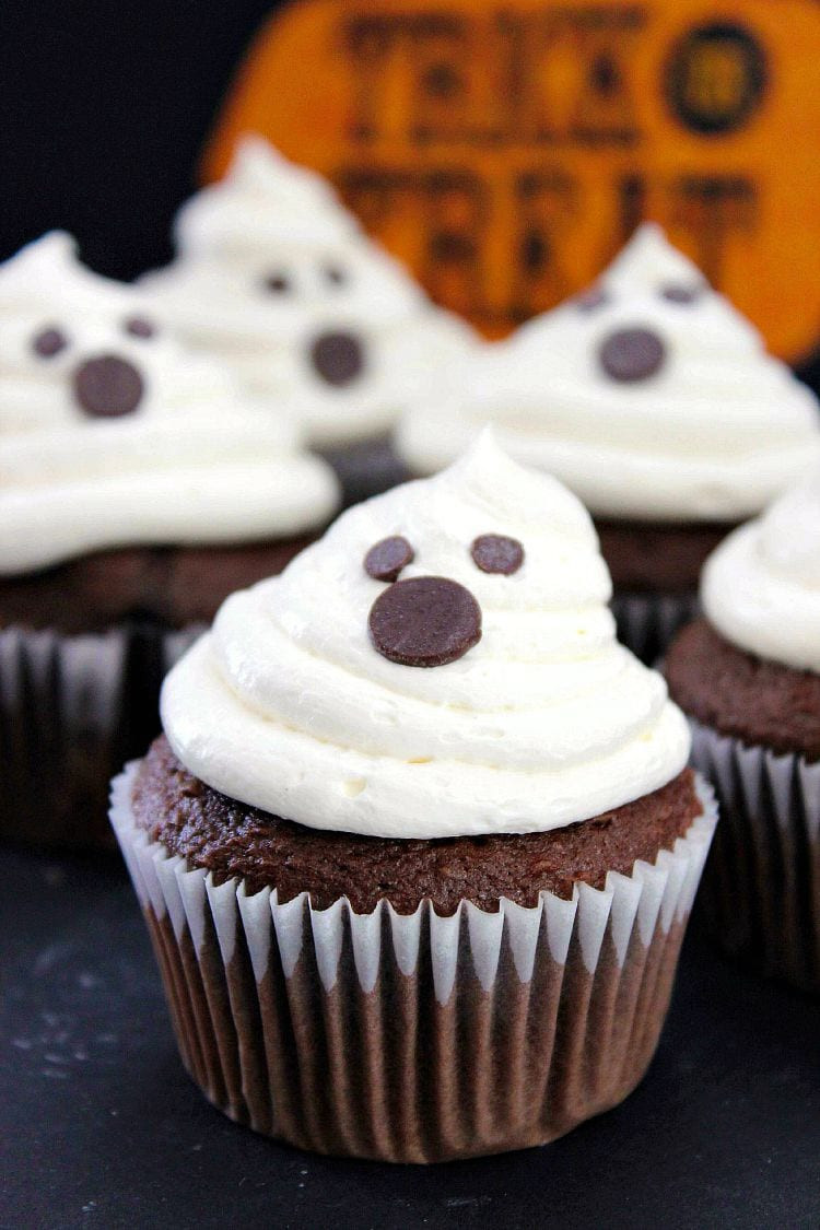 Halloween Cupcakes Recipes  Halloween Ghost Cupcakes Recipe