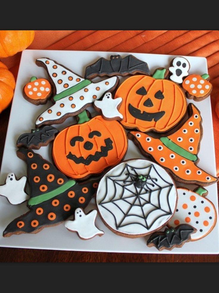 Halloween Decorated Cookies  Best 25 Pumpkin sugar cookies decorated ideas on