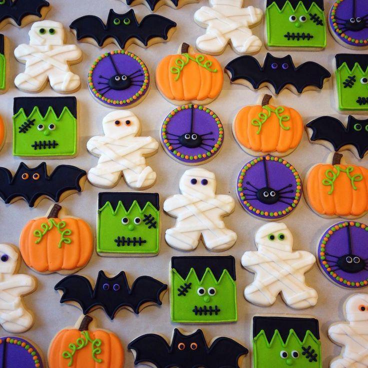 Halloween Decorated Cookies  Best 25 Halloween cookies decorated ideas on Pinterest