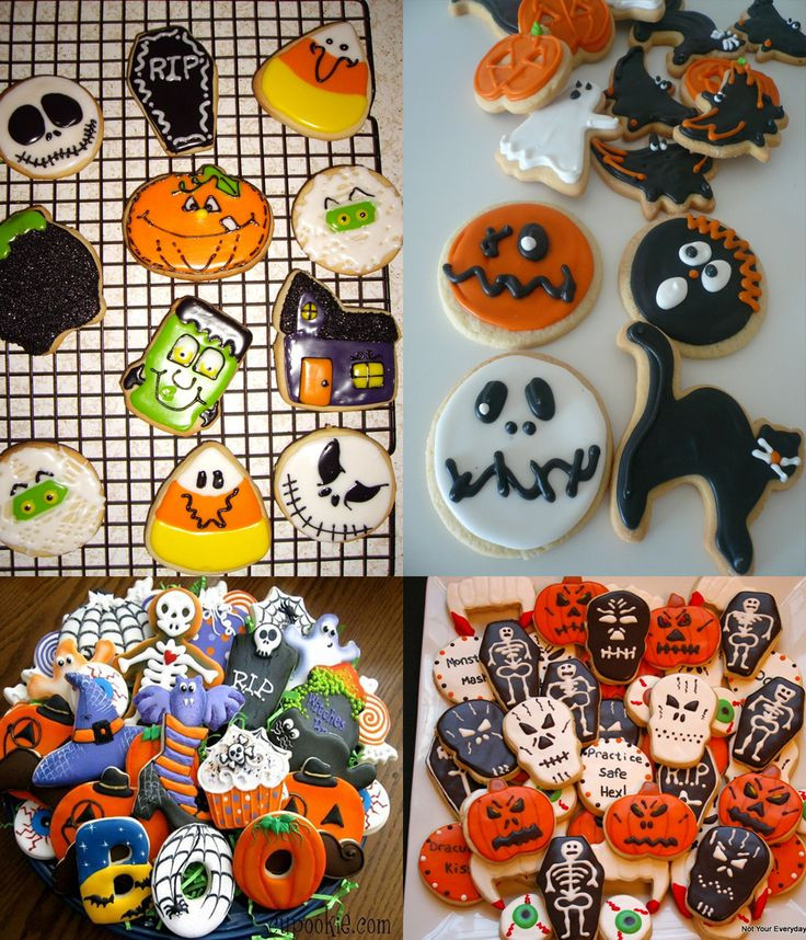 Halloween Decorated Sugar Cookies  135 best images on Pinterest
