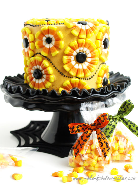 Halloween Decorating Cakes  Halloween Cake Decorating a Candy Corn Cake