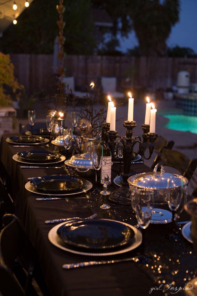 Halloween Dinner Party  Halloween Dinner Party and House Decor girl Inspired