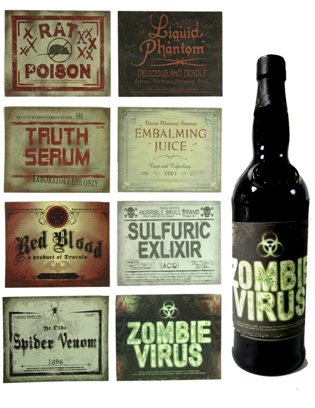 Halloween Drinks Labels  1000 ideas about Drink Labels on Pinterest