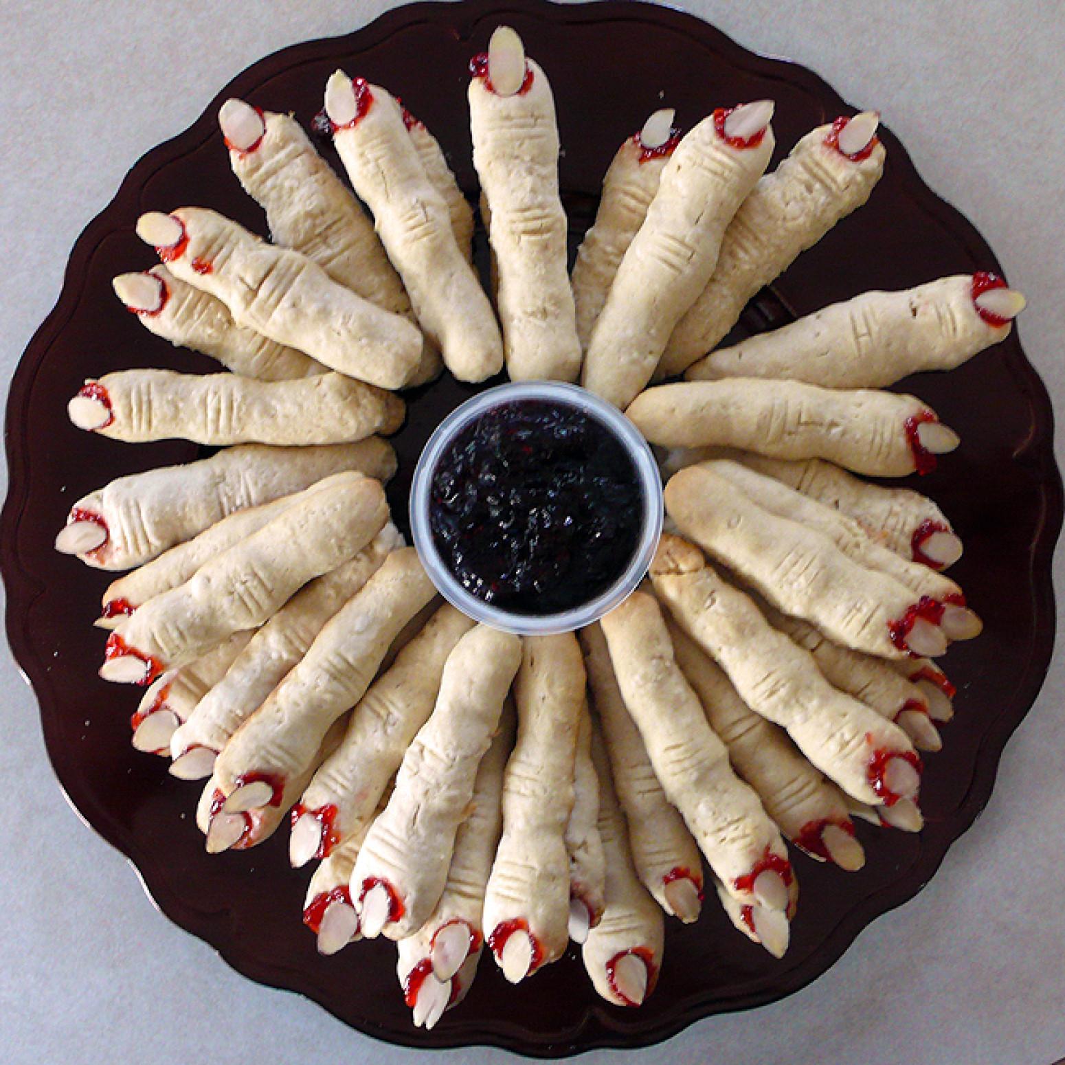Halloween Finger Cookies Recipes  Halloween Witches Finger Cookies Recipe
