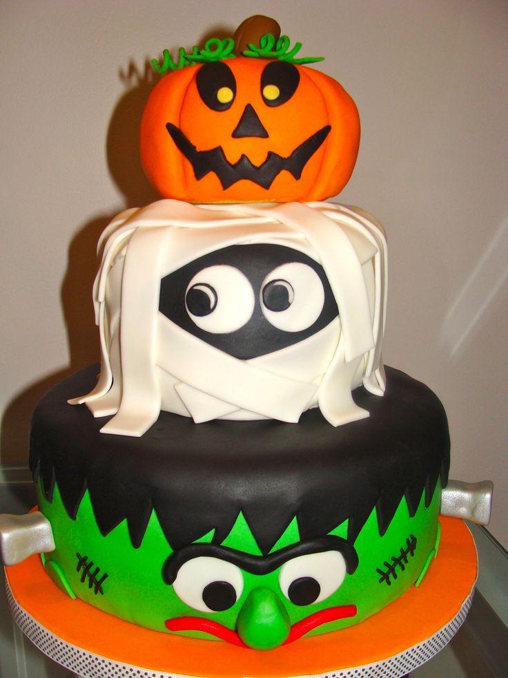 Halloween Fondant Cakes  25 best ideas about Halloween birthday cakes on Pinterest
