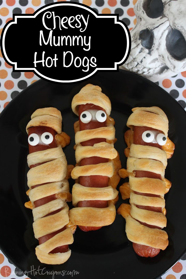 Halloween Hot Dogs Mummy  Spooky Halloween Treats and Appetizers — Today s Every Mom