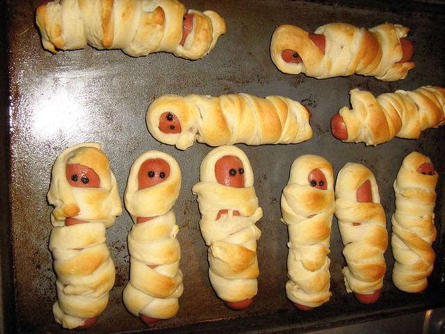 Halloween Hot Dogs Mummy  Halloween Food Mummy Dogs