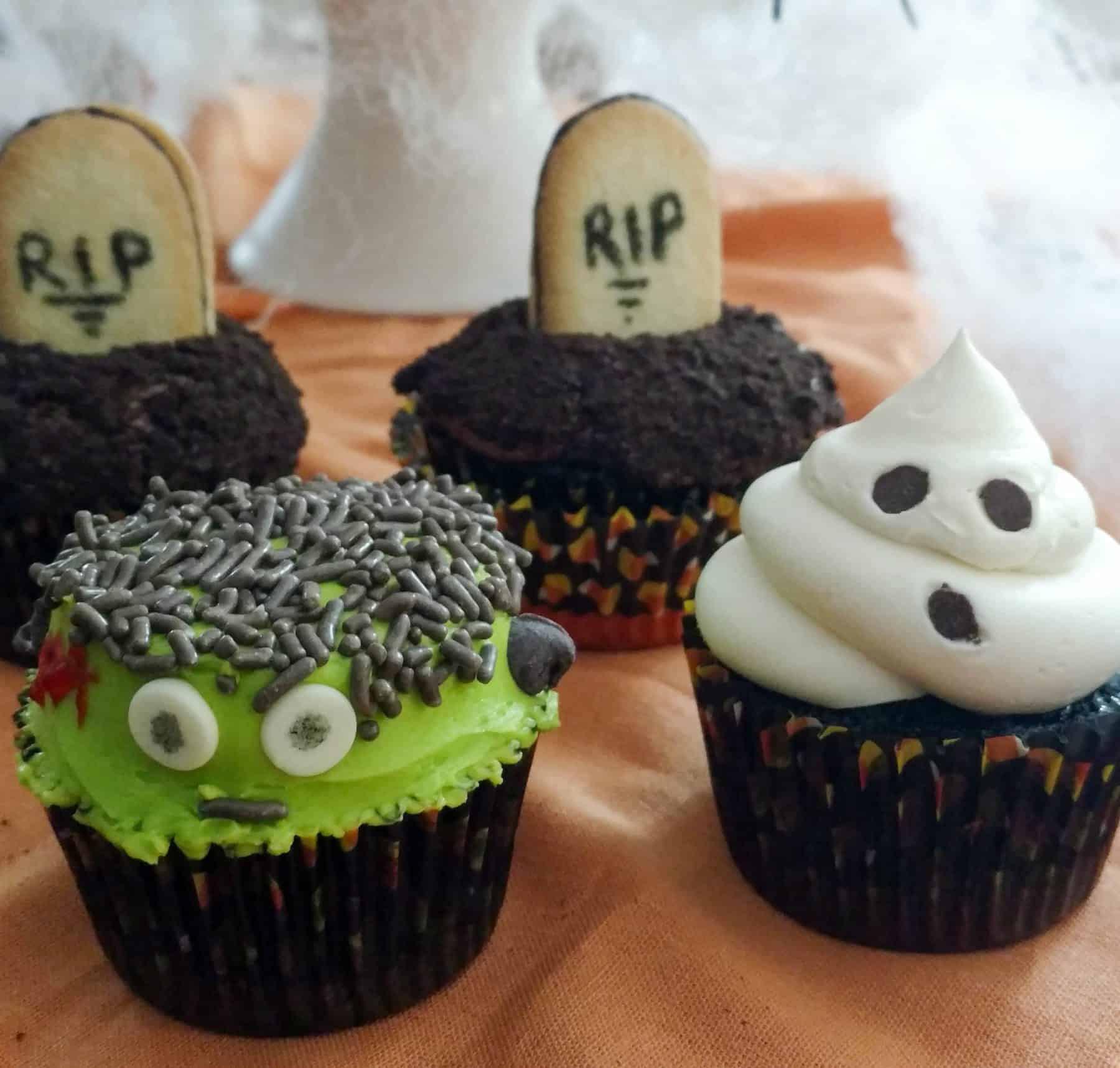 Halloween Inspired Cupcakes  3 Easy To Make Halloween Themed Cupcakes Boston Girl Bakes