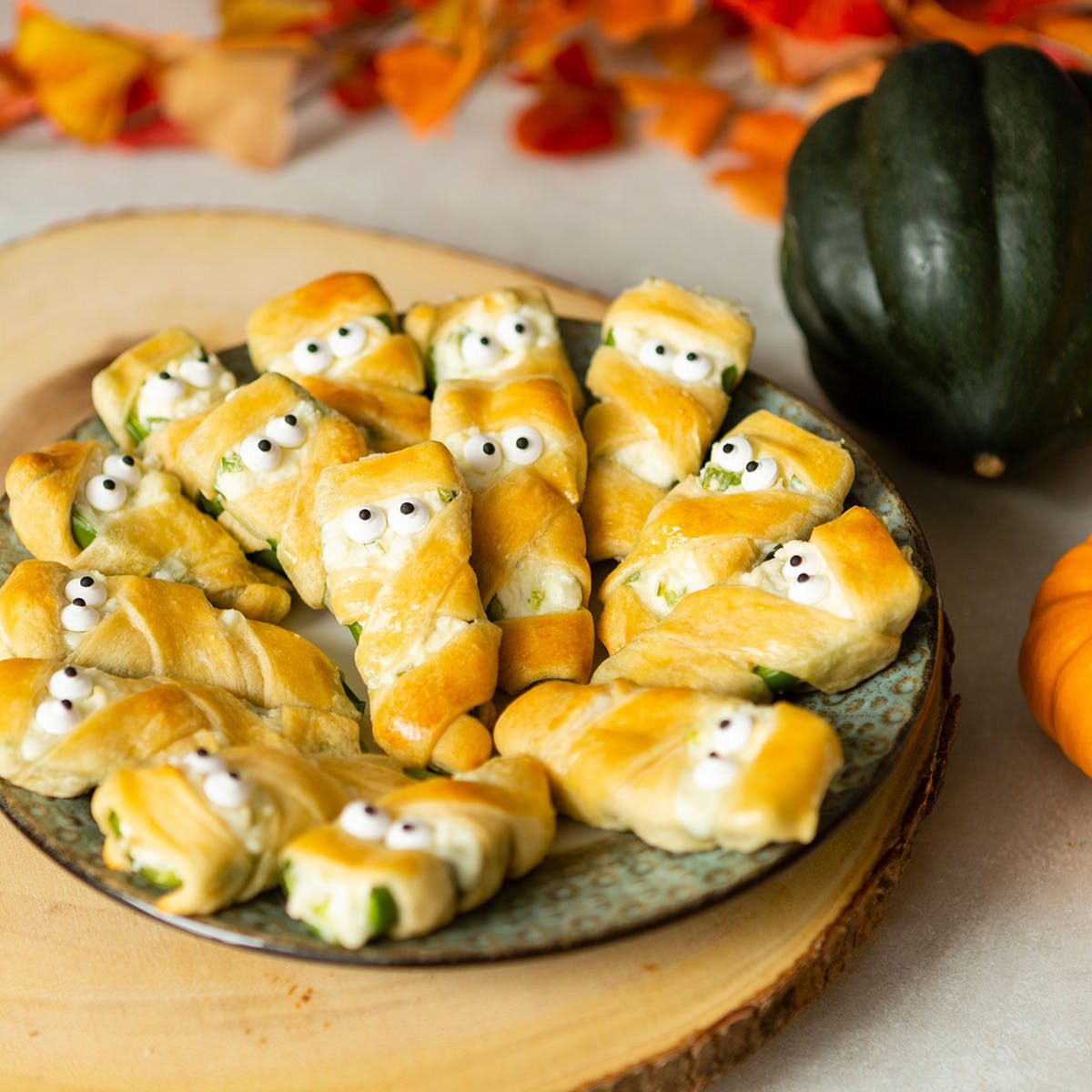Halloween Jalapeno Poppers  Most Popular Halloween Recipe on Pinterest Mummy Jalapeno
