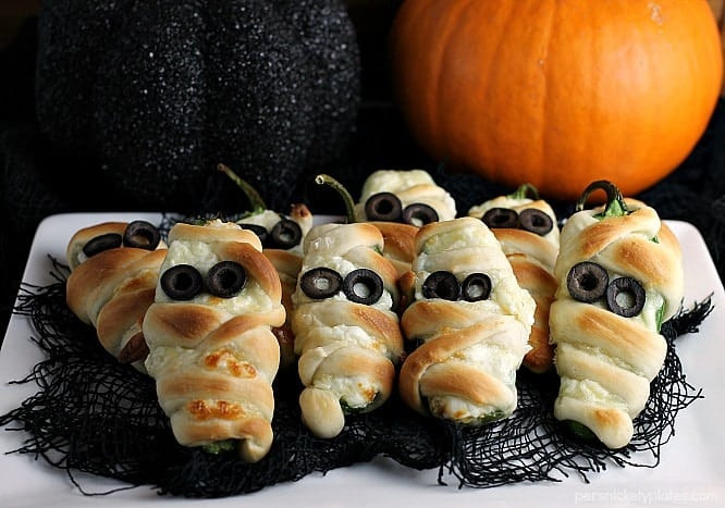 Halloween Jalapeno Poppers  Jalapeno Popper Mummies Persnickety Plates