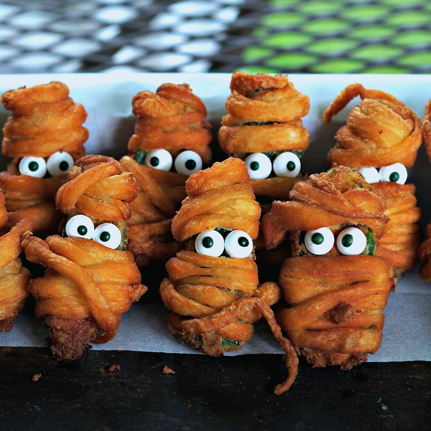 Halloween Jalapeno Poppers  Jalapeno Popper Mummies Simply Sated