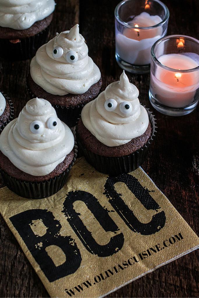 Halloween Mini Cupcakes  10 Ghoulish Ghost Treats