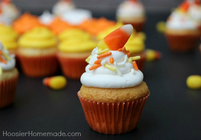 Halloween Mini Cupcakes  Fall Cupcakes and Toppers Hoosier Homemade