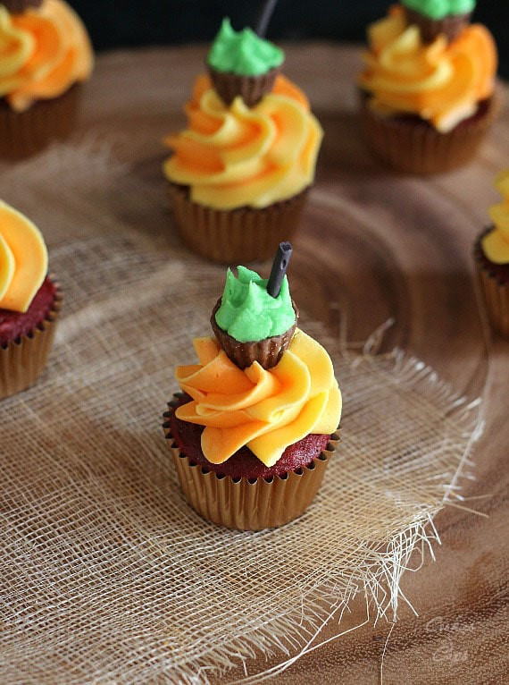 Halloween Mini Cupcakes  Halloween Cauldron Cupcakes Cookies and Cups