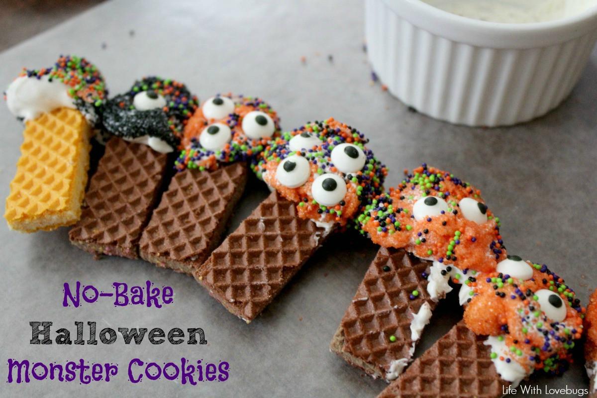 Halloween Monster Cookies  No Bake Halloween Monster Cookies Life With Lovebugs