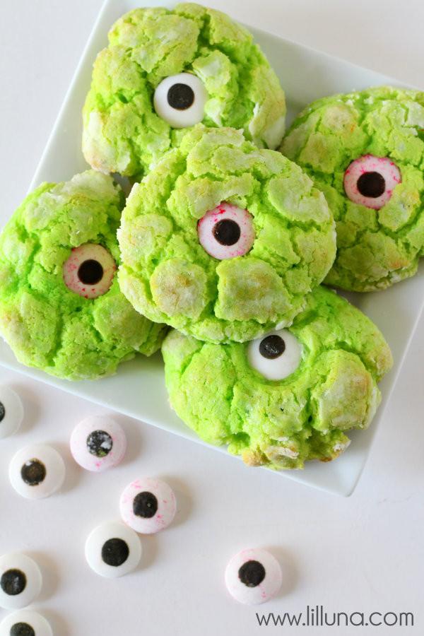 Halloween Monster Cookies  Gooey Monster Eye Cookies
