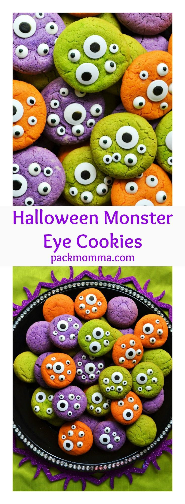 Halloween Monster Cookies  37 best Scary Meatballs images on Pinterest