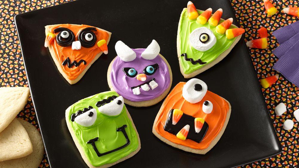 Halloween Monster Cookies  Wacky Monster Cookies recipe from Pillsbury