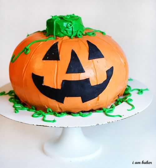 Halloween Pumpkin Cake  Halloween Pumpkin Cake Surprise Inside Cake i am baker