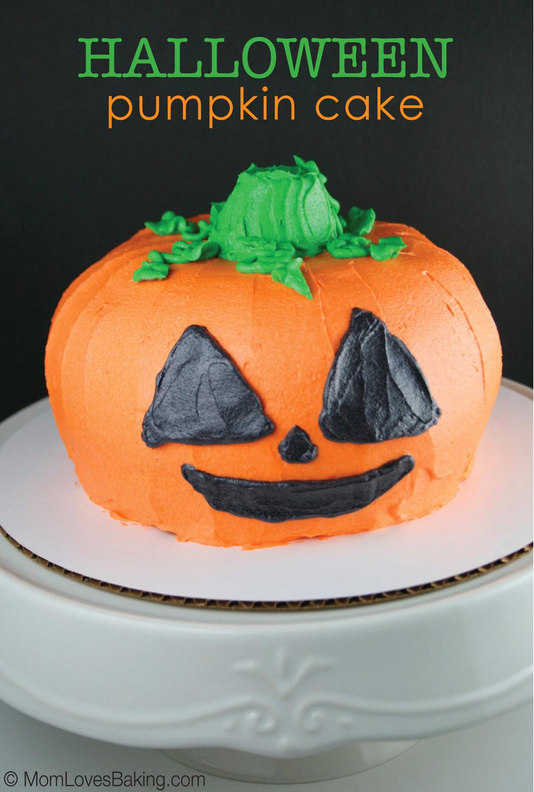 Halloween Pumpkin Cake  Halloween Pumpkin Cake Mom Loves Baking
